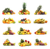 Healthy fruits isolated on white Stock Photo