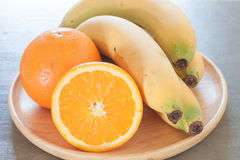 Healthy fruits with oranges and bananas Royalty Free Stock Photography