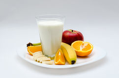 Healthy fruits plate Stock Photos