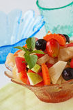 Healthy fruits salad. Fresh and healthy vegetable and fruits salad Stock Photo