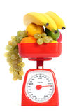 Healthy fruits with scale Royalty Free Stock Photos