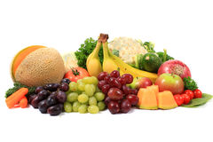 Healthy fruits and vegetables Stock Image