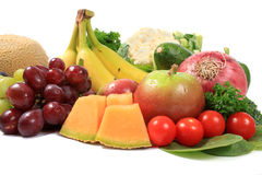 Healthy fruits and vegetables Royalty Free Stock Photos