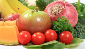 Healthy fruits and vegetables Royalty Free Stock Photography