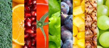Healthy fruits and vegetables Stock Photo