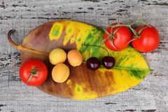 Healthy fruits and vegetables Stock Photography