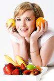 Healthy fruity lifestyle Stock Images