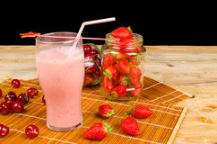 Healthy fruity smoothie Stock Image