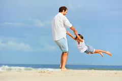 Healthy fun family Stock Photography