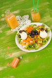 Healthy funny salad Royalty Free Stock Photos