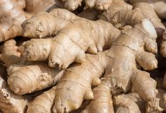 Healthy ginger seen at the market Royalty Free Stock Photo