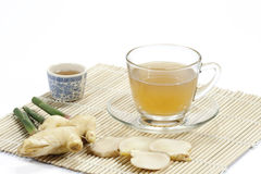 Healthy ginger tea. With white background Stock Photo