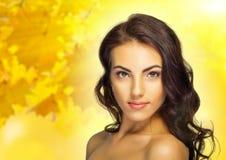 Healthy girl on autumn background Royalty Free Stock Photos