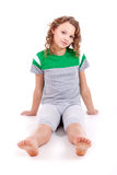 Healthy girl in green sport's shirt Stock Photo