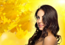 Free Healthy Girl On Autumn Background Royalty Free Stock Photos - 56223028