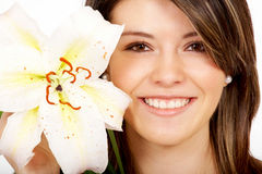 Healthy girl smiling portrait Royalty Free Stock Images