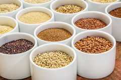 Healthy, gluten free grains abstract Royalty Free Stock Images