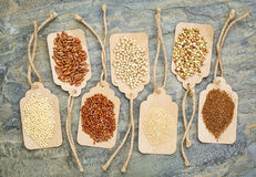 Healthy, gluten free grains Royalty Free Stock Image