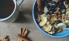 Healthy Goodness: Vegan Breakfast Bowl royalty free stock image