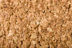 Healthy Granola bar background. Wholegrain oats, copy space. Royalty Free Stock Photography