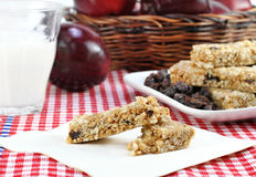 Healthy Granola Bar and Fruit Snacks Stock Image
