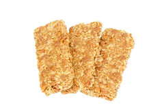 Healthy Granola bar isolated on white Royalty Free Stock Image