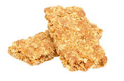 Healthy Granola bar isolated on white Royalty Free Stock Photography