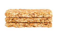 Healthy Granola bar isolated on white Royalty Free Stock Images