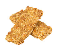 Healthy Granola bar isolated on white Royalty Free Stock Photos