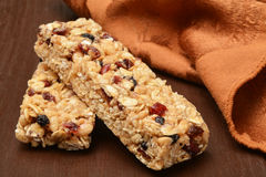 Healthy granola bars Royalty Free Stock Images