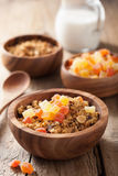 Healthy granola with dried fruits for breakfast Royalty Free Stock Photography