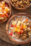 Healthy granola with dry fruits for breakfast Royalty Free Stock Image