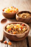 Healthy granola with dry fruits for breakfast Stock Photography