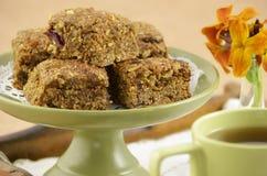 Healthy granola squares Stock Photography