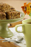Healthy granola squares Royalty Free Stock Images