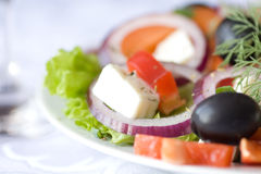 Healthy Greek Salad Stock Photography