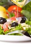 Healthy greek salad Royalty Free Stock Photos