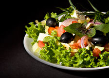 Healthy greek salad Royalty Free Stock Photography