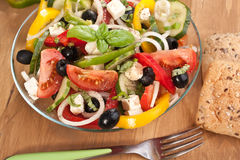 Healthy Greek Salad Bowl Stock Image