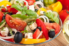 Healthy Greek Salad Bowl Stock Photos