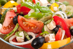 Healthy Greek salad Royalty Free Stock Image