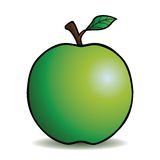 Healthy cartoon apple Royalty Free Stock Photography