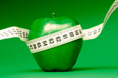 Healthy green apple Stock Images