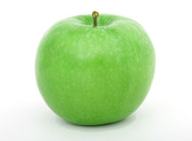 Healthy green apple fruit isolated over white Royalty Free Stock Image