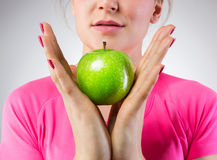 Healthy green apple Stock Photo
