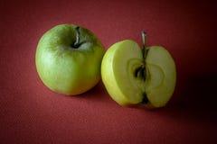 Healthy green apples stock photos