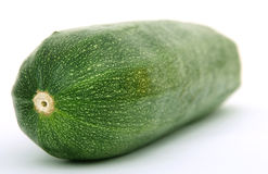 Healthy green courgette vegetable isolated on white royalty free stock images