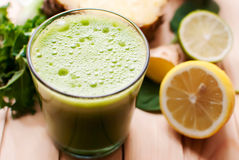 Healthy green detox juice Stock Photography