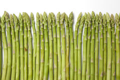 Healthy green fine asparagus tips Royalty Free Stock Image