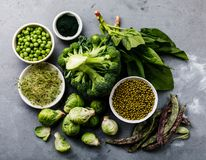 Healthy Green food Protein source for vegetarians Stock Photography